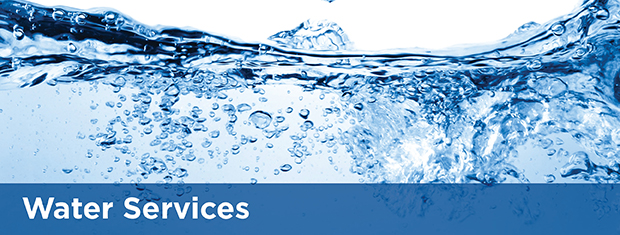 Water services banner image